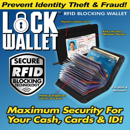 lock wallet as seen on tv