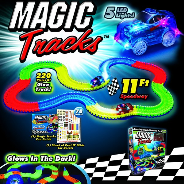 magic tracks glow in the dark race track toy