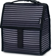 packit freezable lunch bag gray stripe