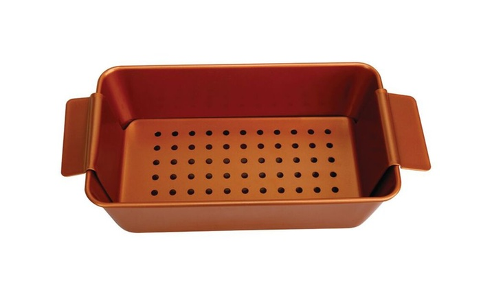 copper meatloaf chef pan