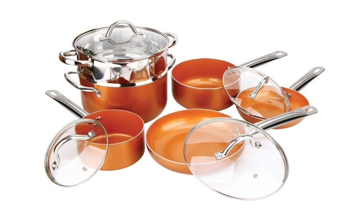 copper pan chef 10 piece set