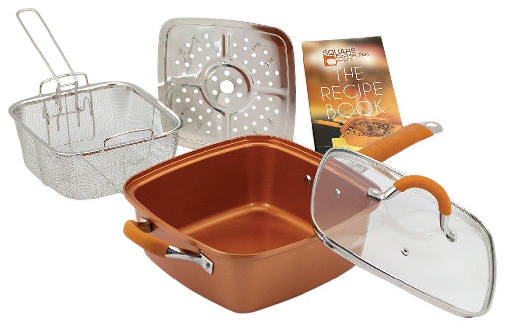 Copper Cookware Chef 9 5 Quot Square Pan 5 Piece Set