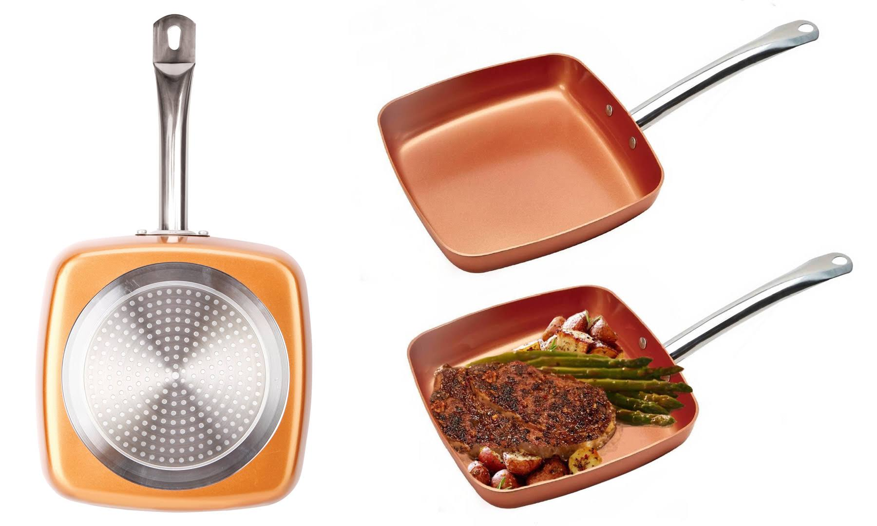 copper square pan as seen on tv