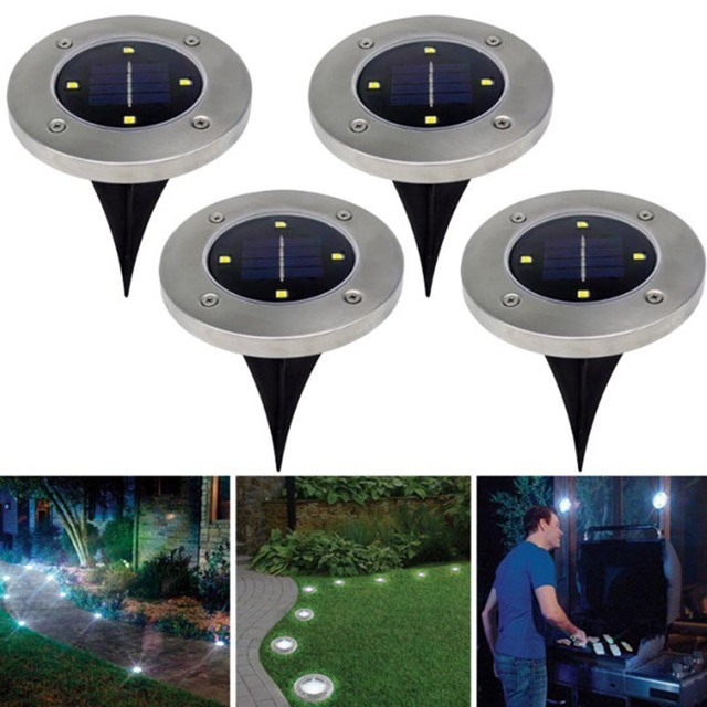 solar powered disk lights