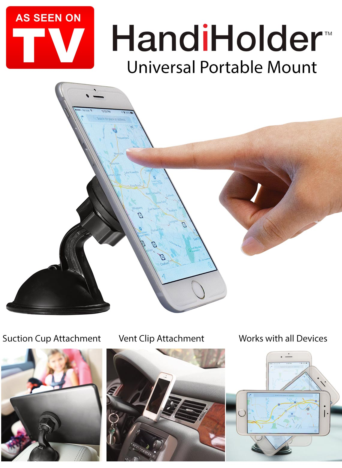handiholder magnetic phone mount as seen on tv