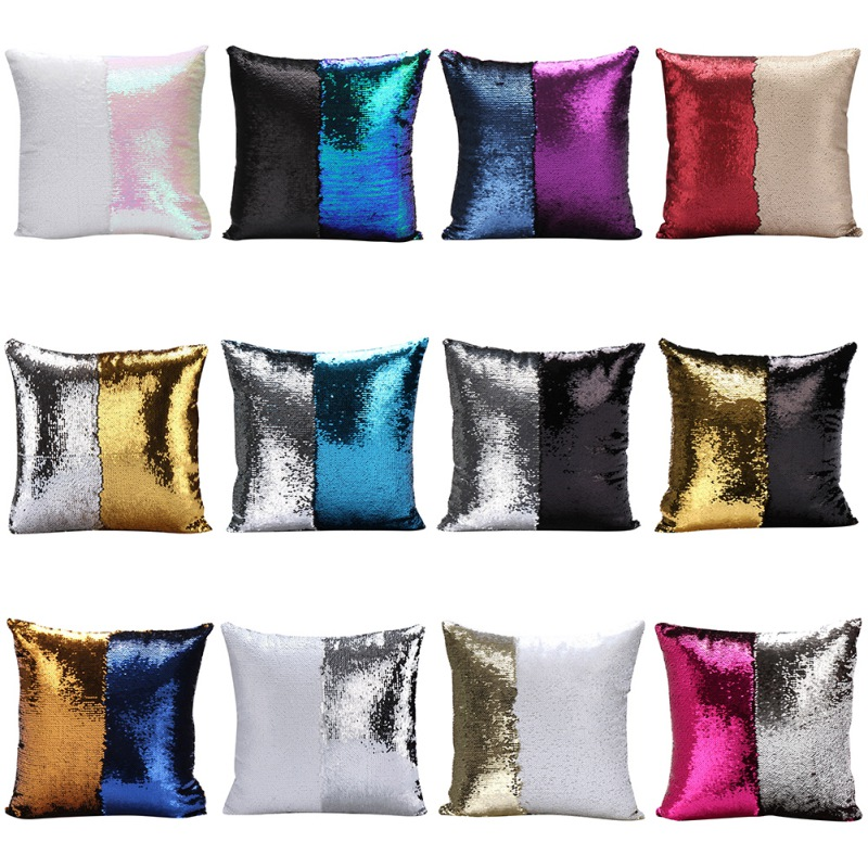 shimmer sequin mermaid pillow