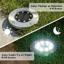 Solar Ed Disk Lights 4 Pack As Seen On Tv